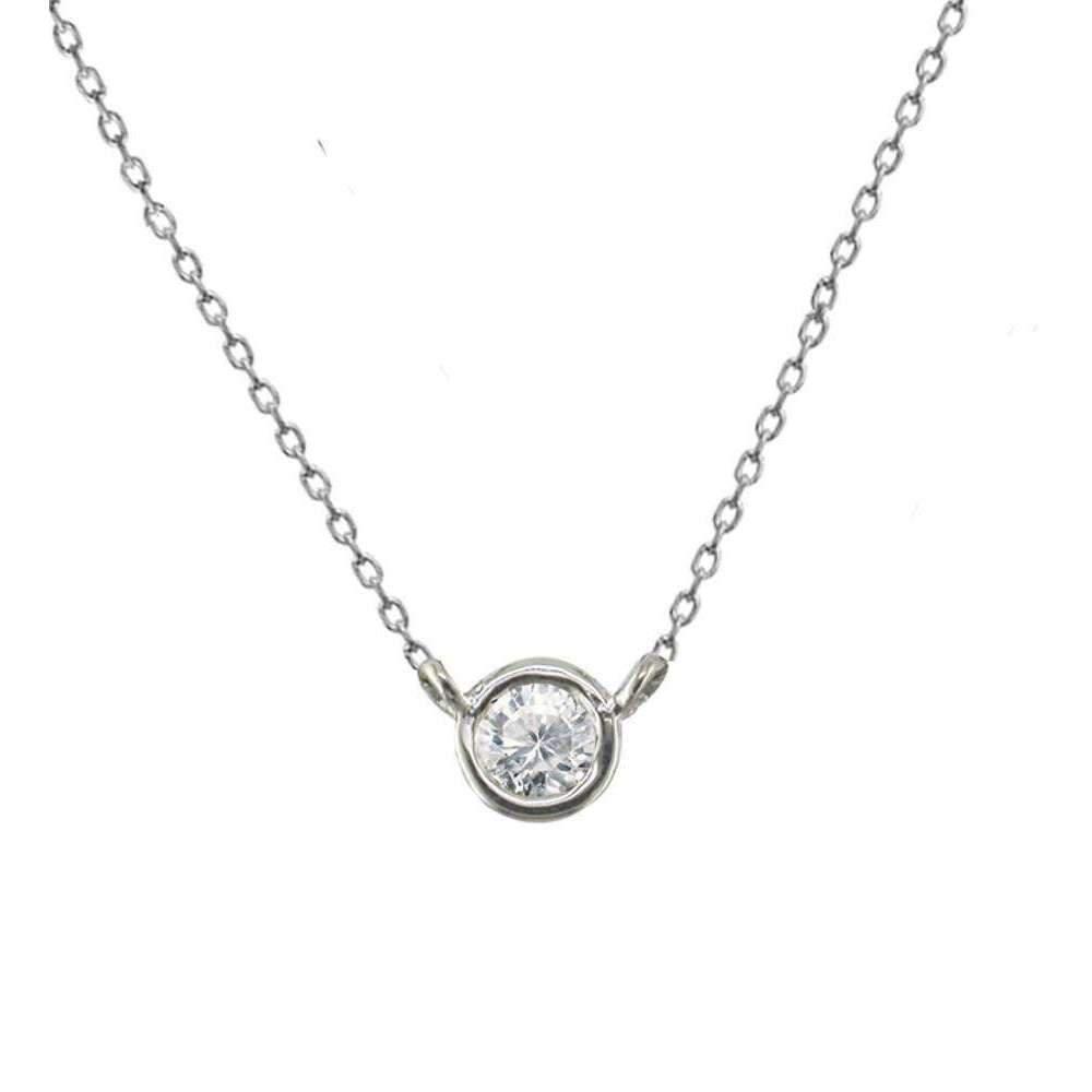 London Road Jewellery Stylish Yellow Gold Diamond Single Stone Raindrop Pendant dxi9A