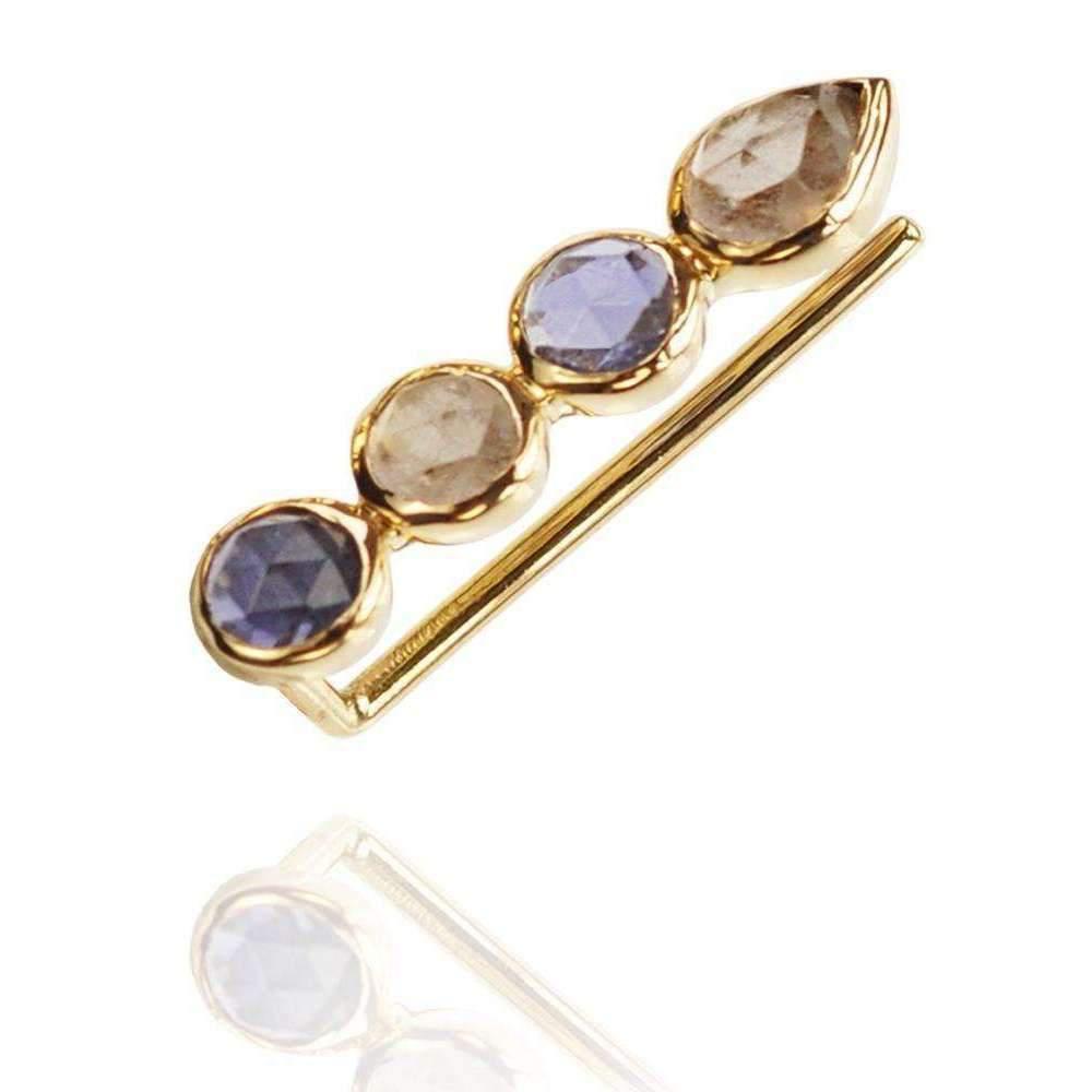 Perle de lune Pink Garnet Ear Cuff Right 18kt Gold PmNqa