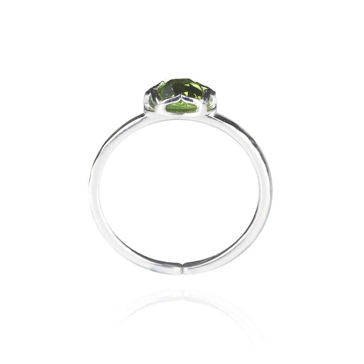 Zefyr Dosha Ring Sterling Silver With Peridot - UK T 1/2 - US 10 - EU 62 1/4