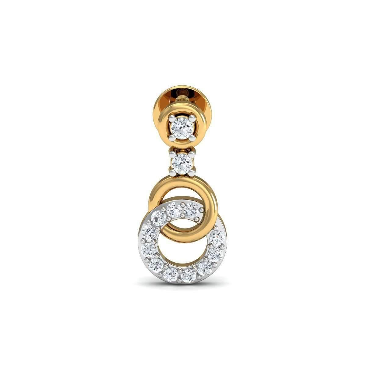 Diamoire Jewels Hand-finished Diamond Pave Earrings in 18Kt Yellow Gold f0crYO
