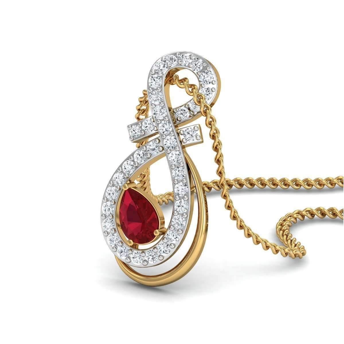 Diamoire Jewels Streamlet Diamond Pendant in 18kt Rose Gold lhgTmGZmU