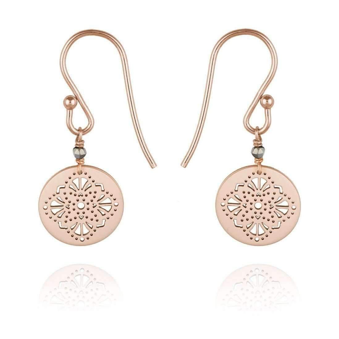 Perle de lune Art Deco Medal 9kt Rose Gold nrVsS7F