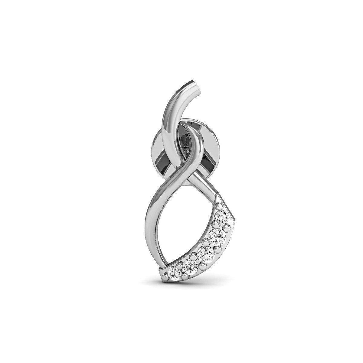 Diamoire Jewels Cutting-edge Diamond Stud Diamonds in 18kt White Gold d6ZgS