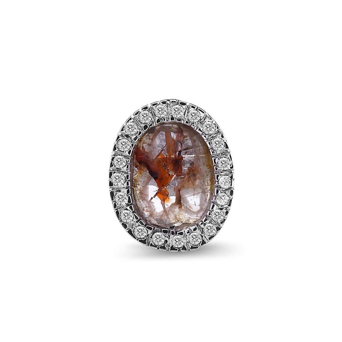 Socheec Exotic Diamond Stud Earrings vYMXGQI