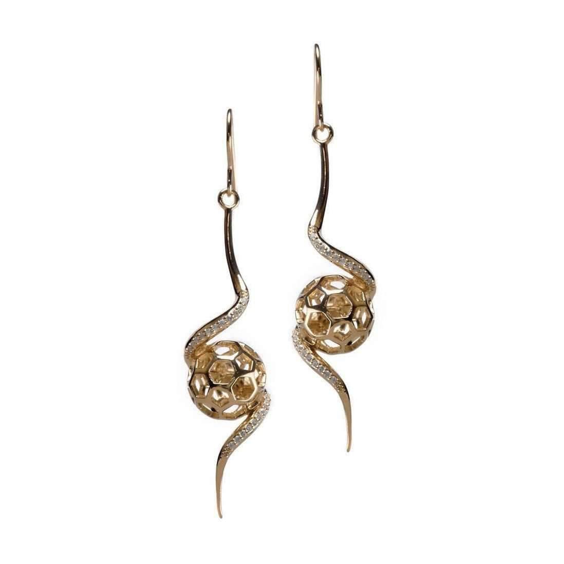 Gia Belloni Gold Polished Aeon Earrings iCzczxw5m