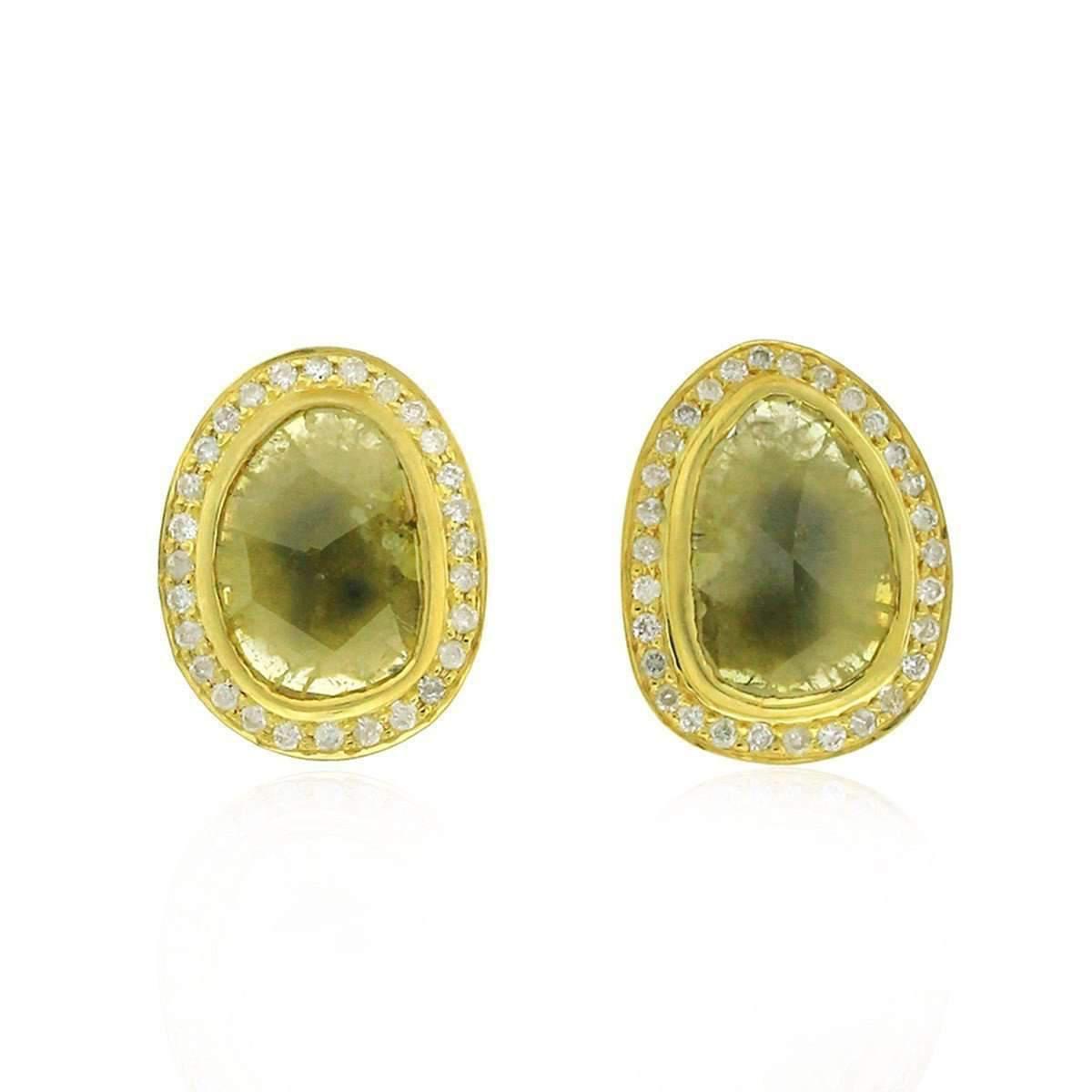 Socheec Drop Diamond Stud Earrings TM01IJ