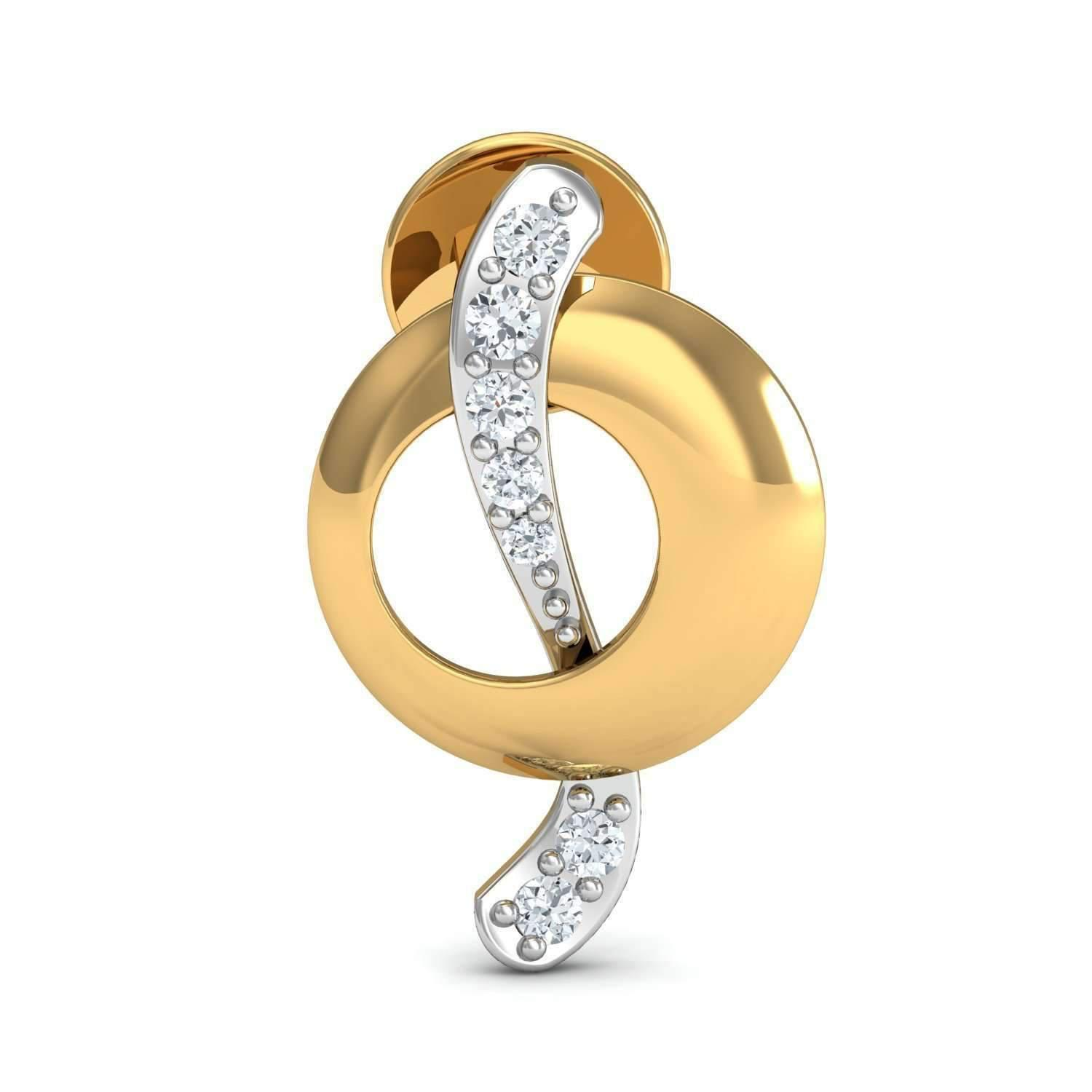 Diamoire Jewels Excellent Cut Diamonds and 18kt Yellow Gold in a Pave Setting oLl9w