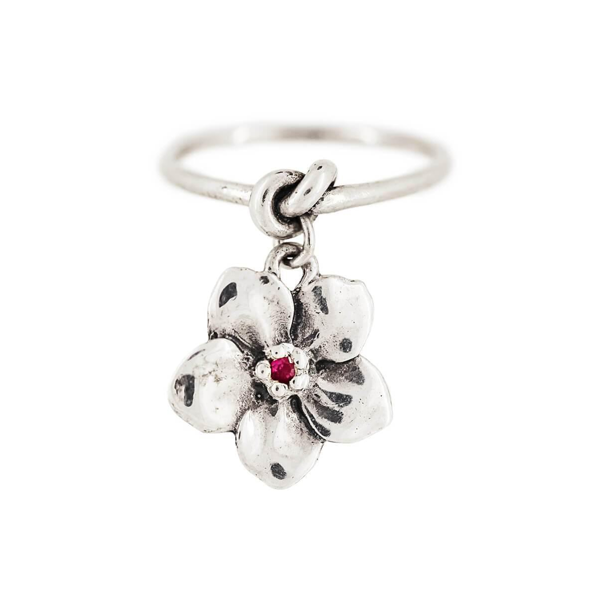 Lyst Freerange Jewels Forget Me Knot Pink Sapphire Flower Ring In