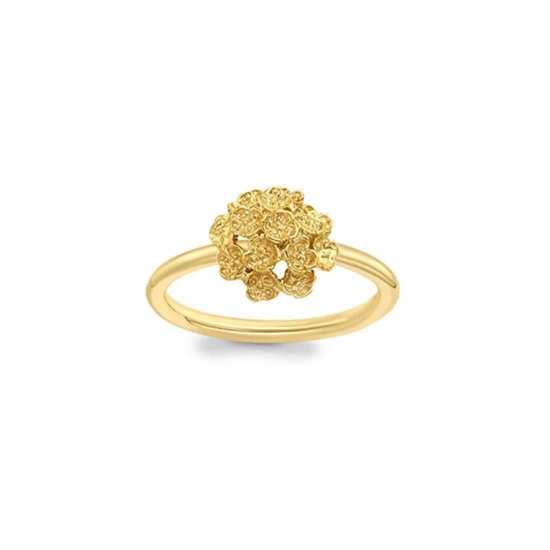 London Road Jewellery Kew Yellow Gold Posy Cluster Ring WEfOkEnh