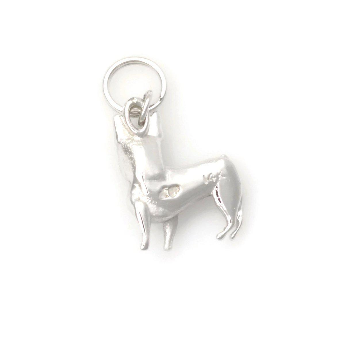 Donna Pizarro Designs 14kt White Gold French Bulldog Charm uyJsa5z