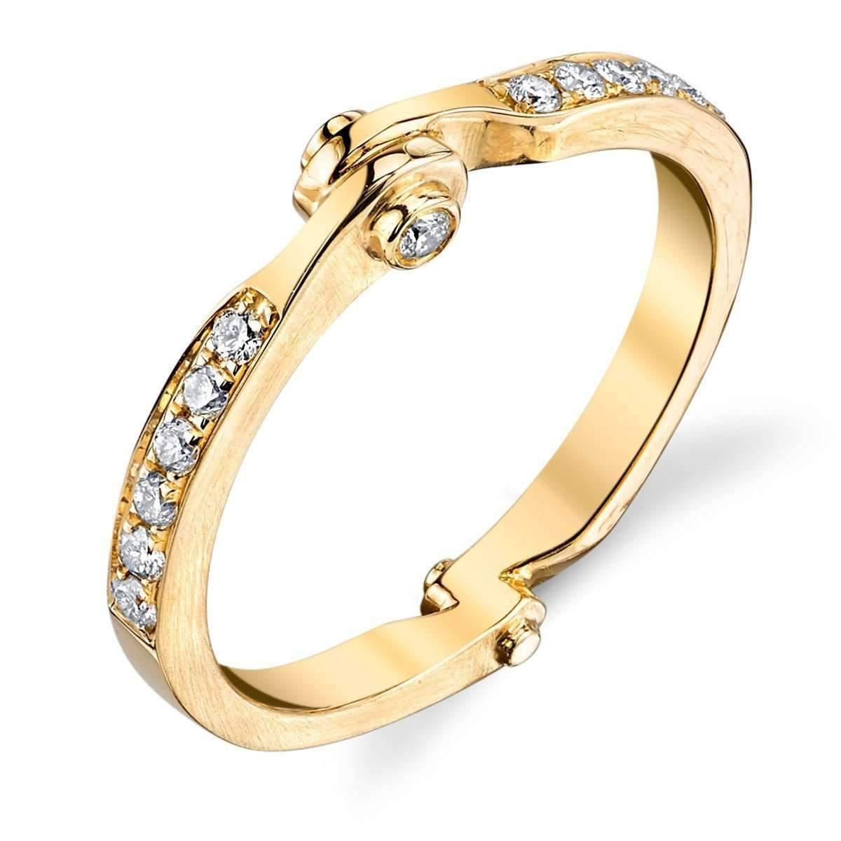 Borgioni Handcuff Chain Ring in Yellow Gold - UK N 1/2 - US 6 3/4 - EU 54 1/2 6Hw5EENr