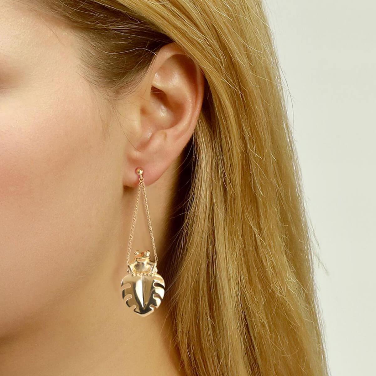 Jana Reinhardt Sterling Silver Frog Earrings w0t03Brn