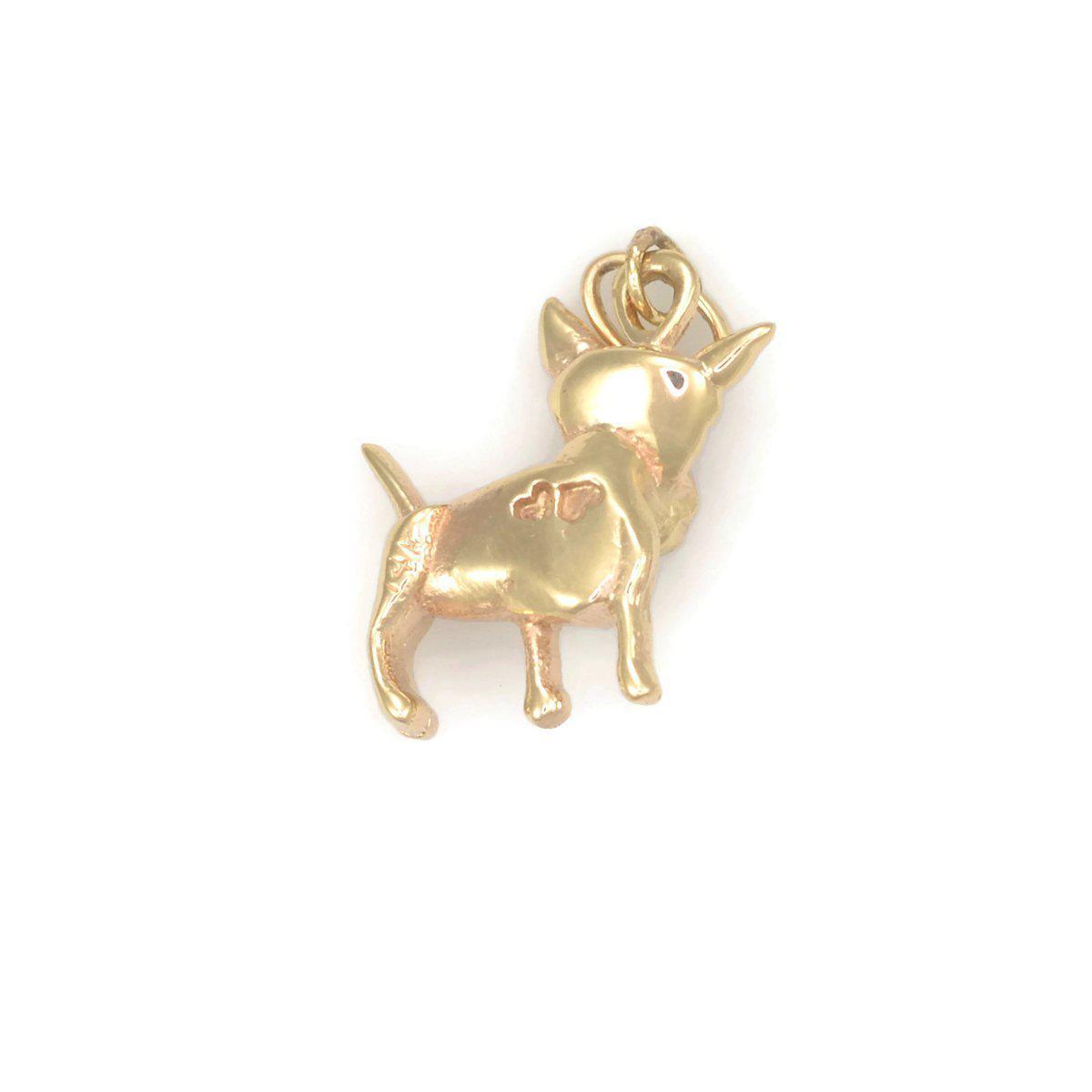 Donna Pizarro Designs 14kt Yellow Gold Bull Terrier Charm qm9uJifDjR