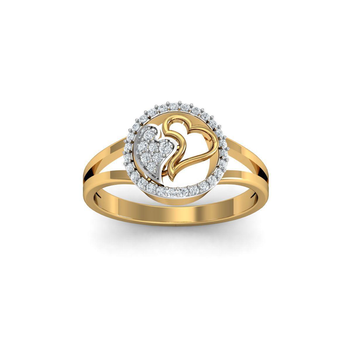 Diamoire Jewels 18kt Yellow Gold Pave 0.18ct Diamond Infinity Ring II - UK G 1/4 - US 3 1/2 - EU 45 3/4 YaZMjN