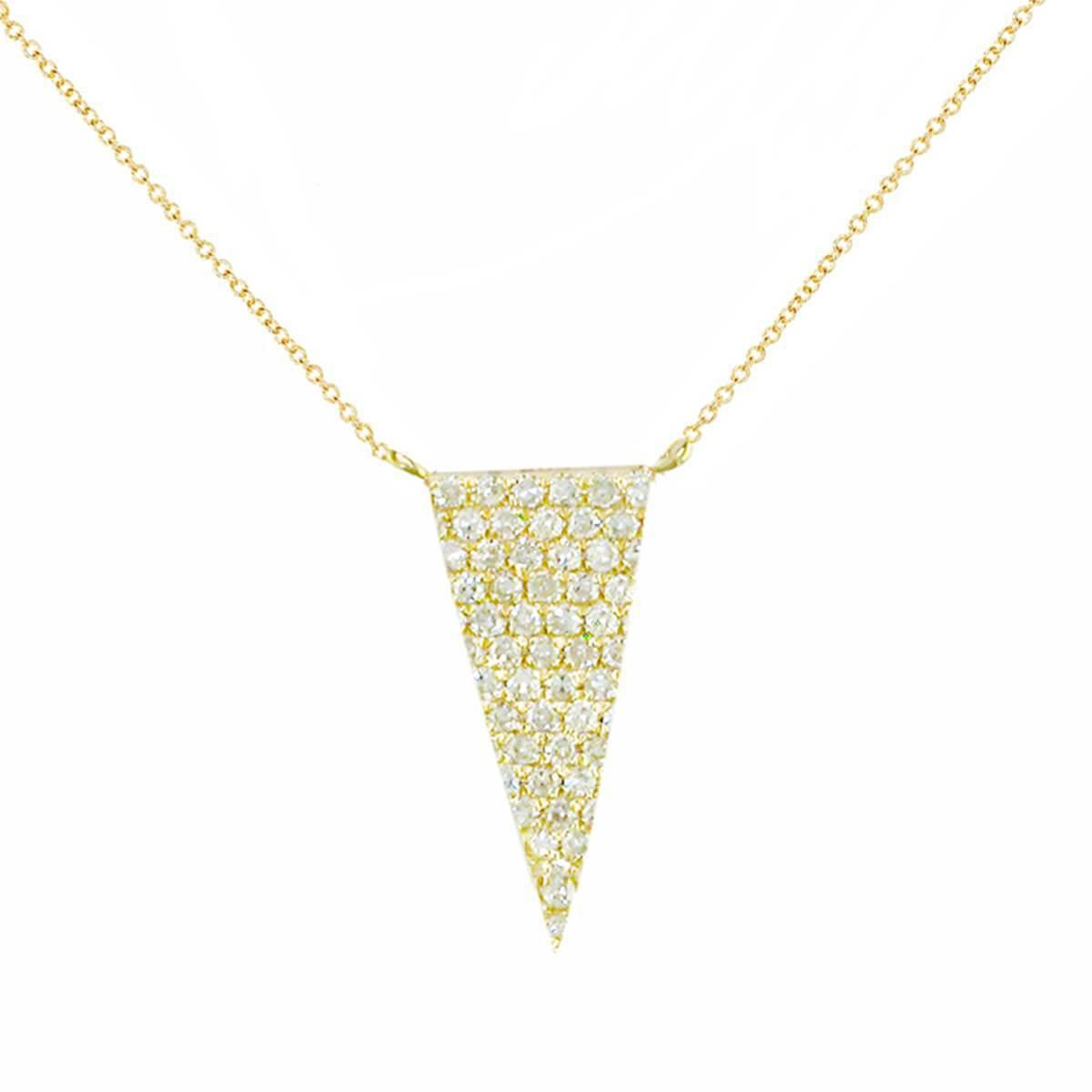 London Road Jewellery White Gold Diamond Geo Pendant Necklace - 0.07cts 0MsGB4