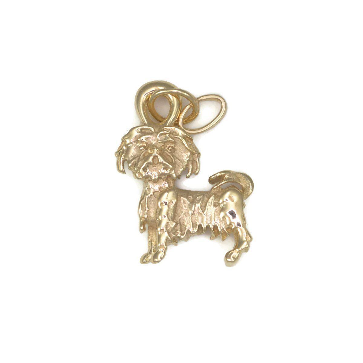 Donna Pizarro Designs 14kt Yellow Gold Shihtzu Charm xmBbZeKUJE