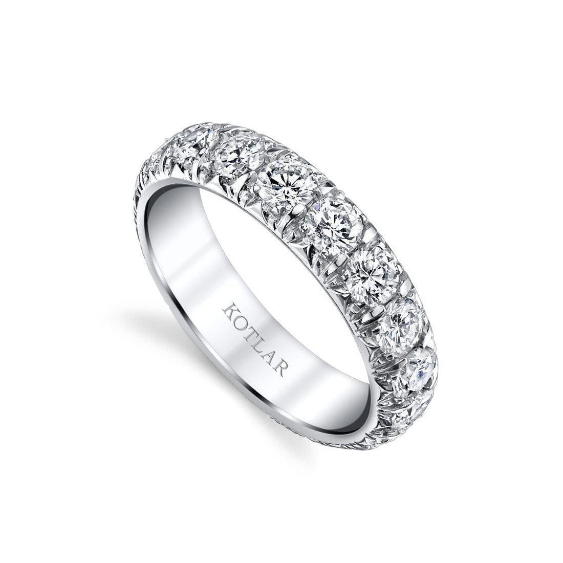Harry Kotlar French Cut Artisan Pave Band - UK M - US 6 - EU 52 3/4 o2Ucvin