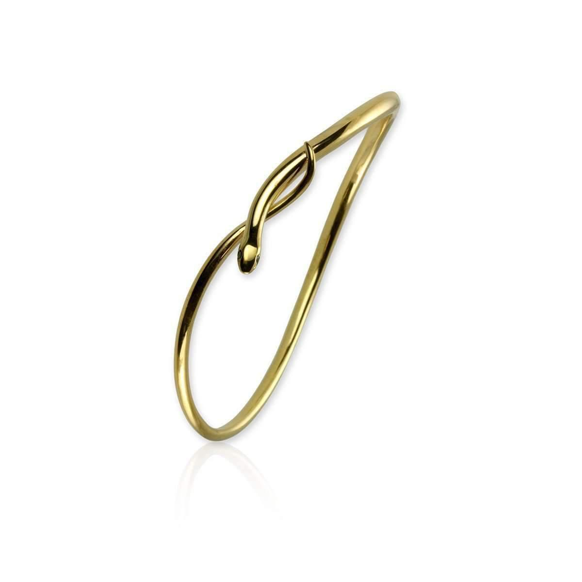 Jana Reinhardt Gold Plated Silver Snake Bangle With Black Diamonds 34QfWQ7g