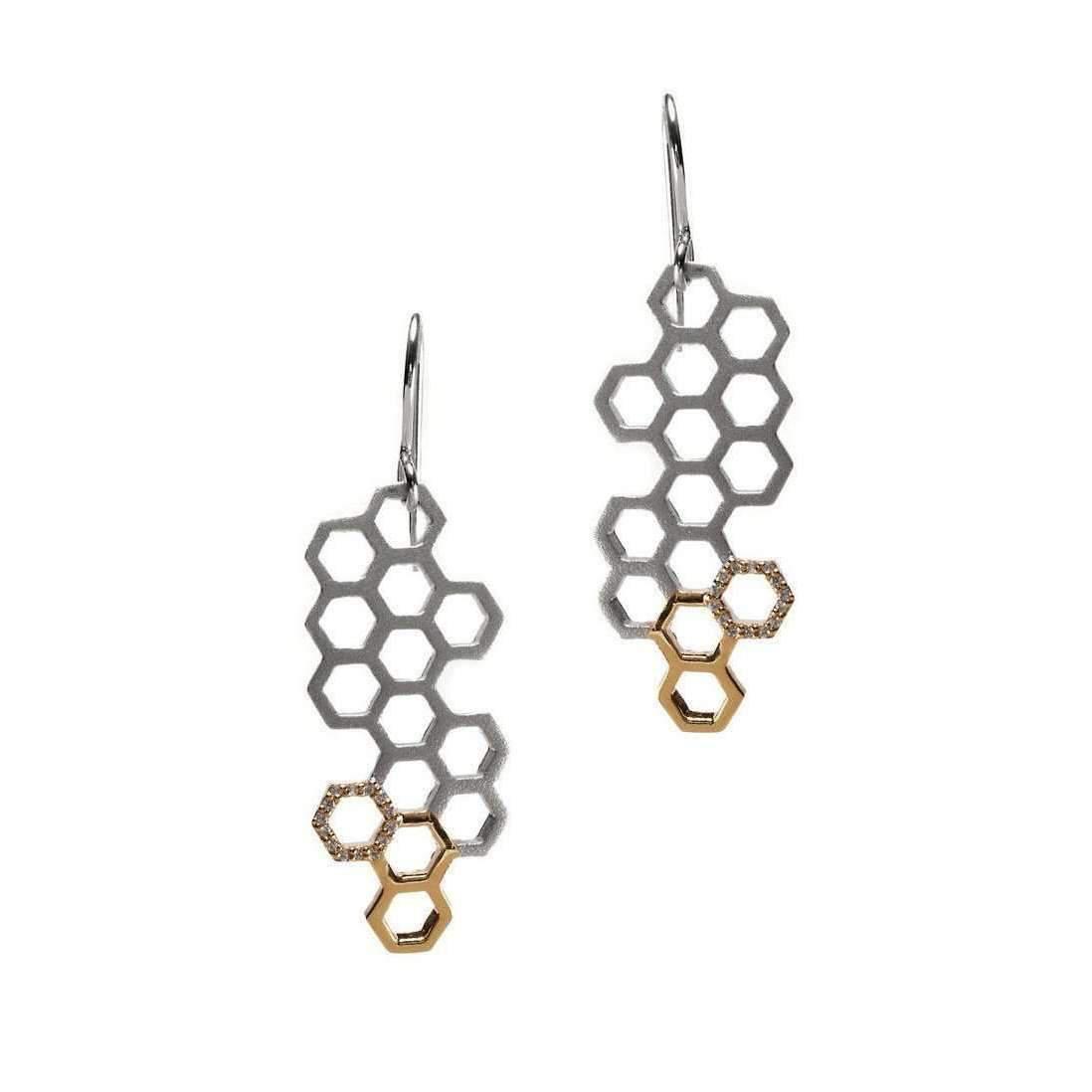 Gia Belloni Gold And Silver Aeon Earrings CwIsFSWO