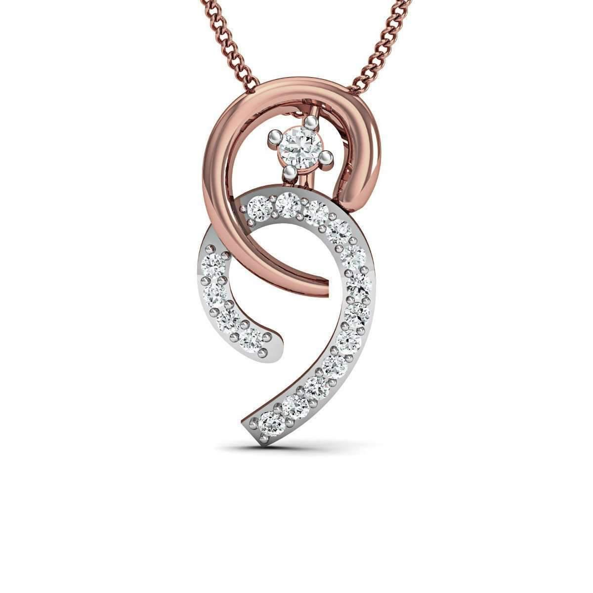 Diamoire Jewels Clustered Diamond Pendant in 18kt Rose Gold gEExZkq