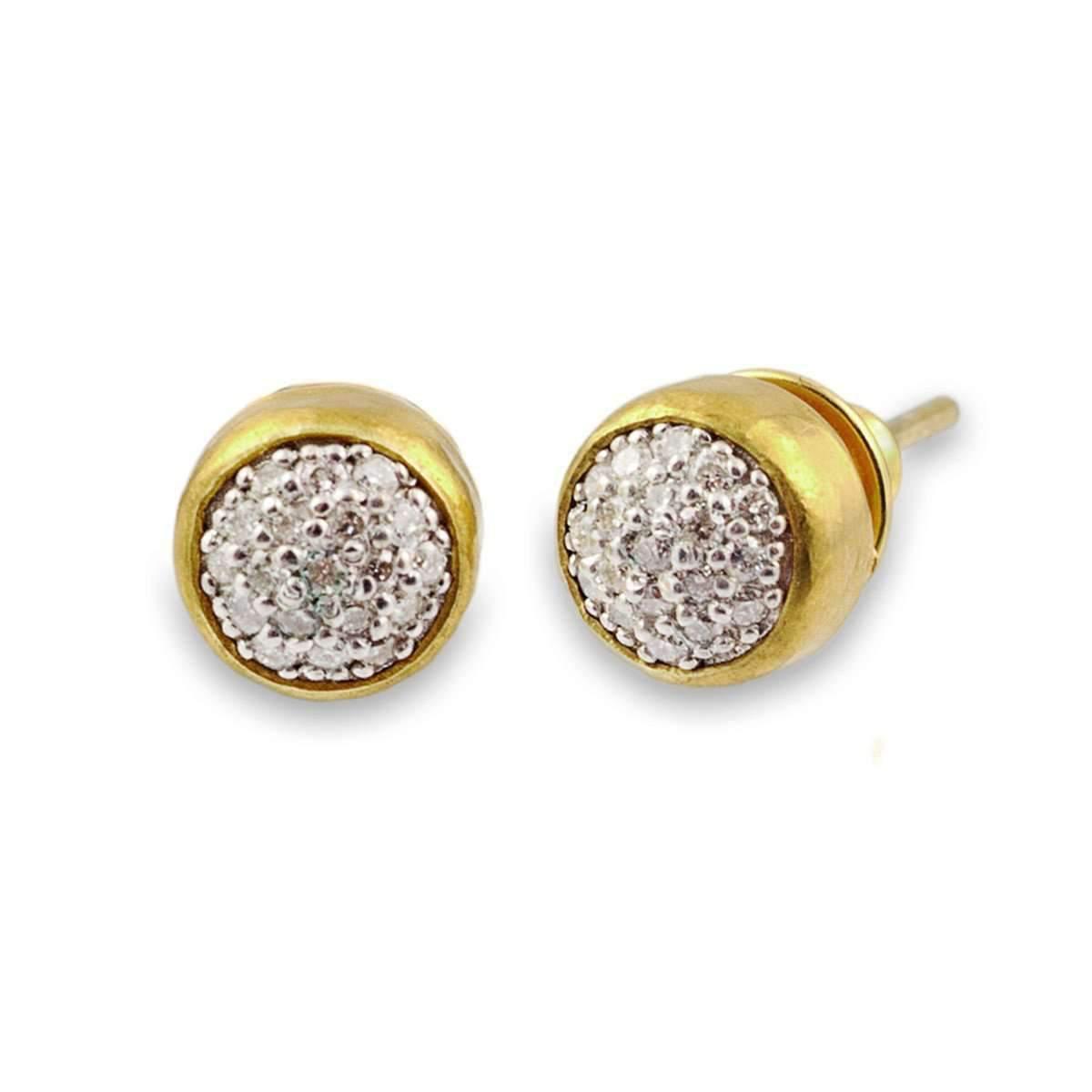 Gurhan Small Amulet Pave Stud Earrings M2CQl5
