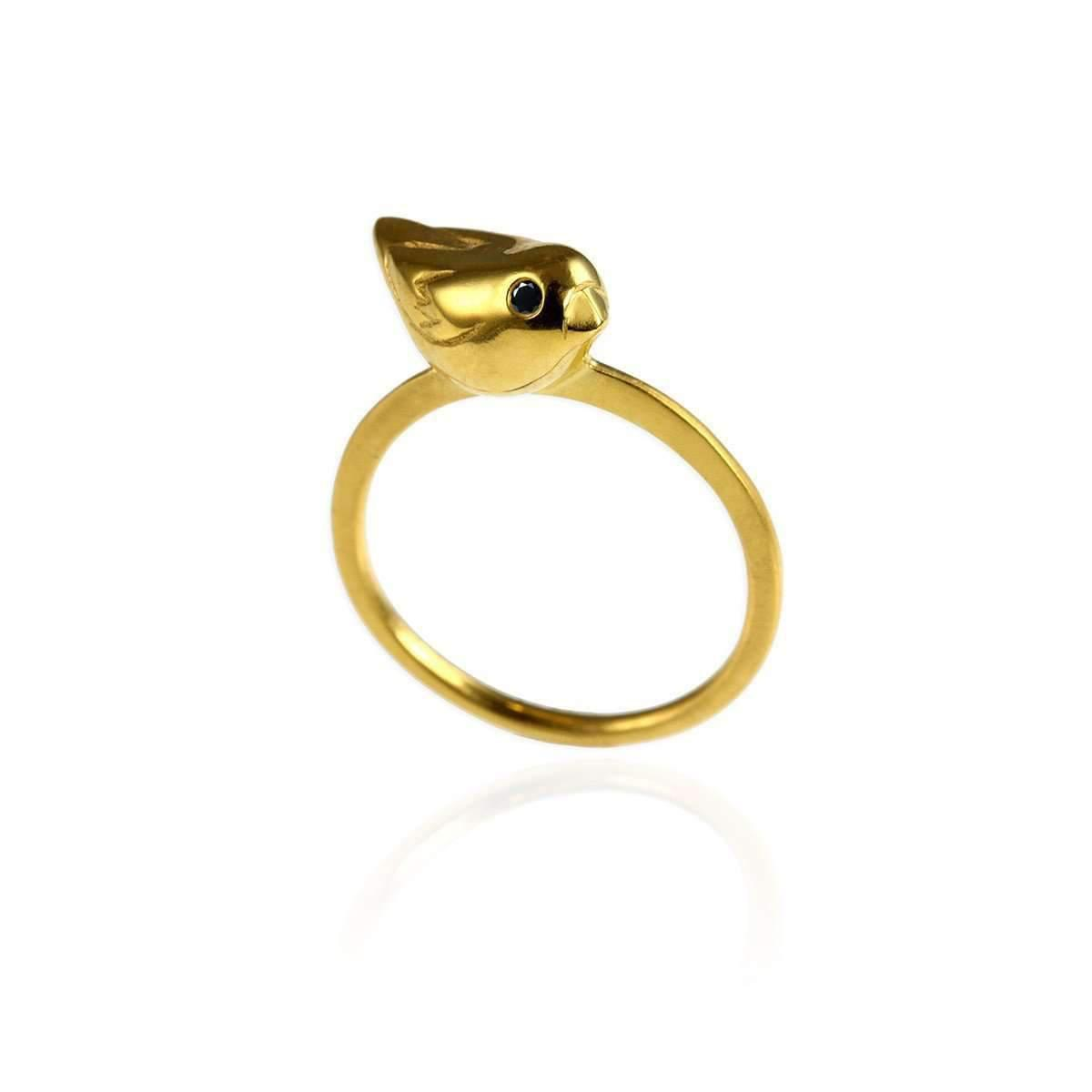 Jana Reinhardt Gold Plated Silver Wing Ring - UK I 1/2 - US 4 1/2 - EU 48 1/2 lO1FwXe4n