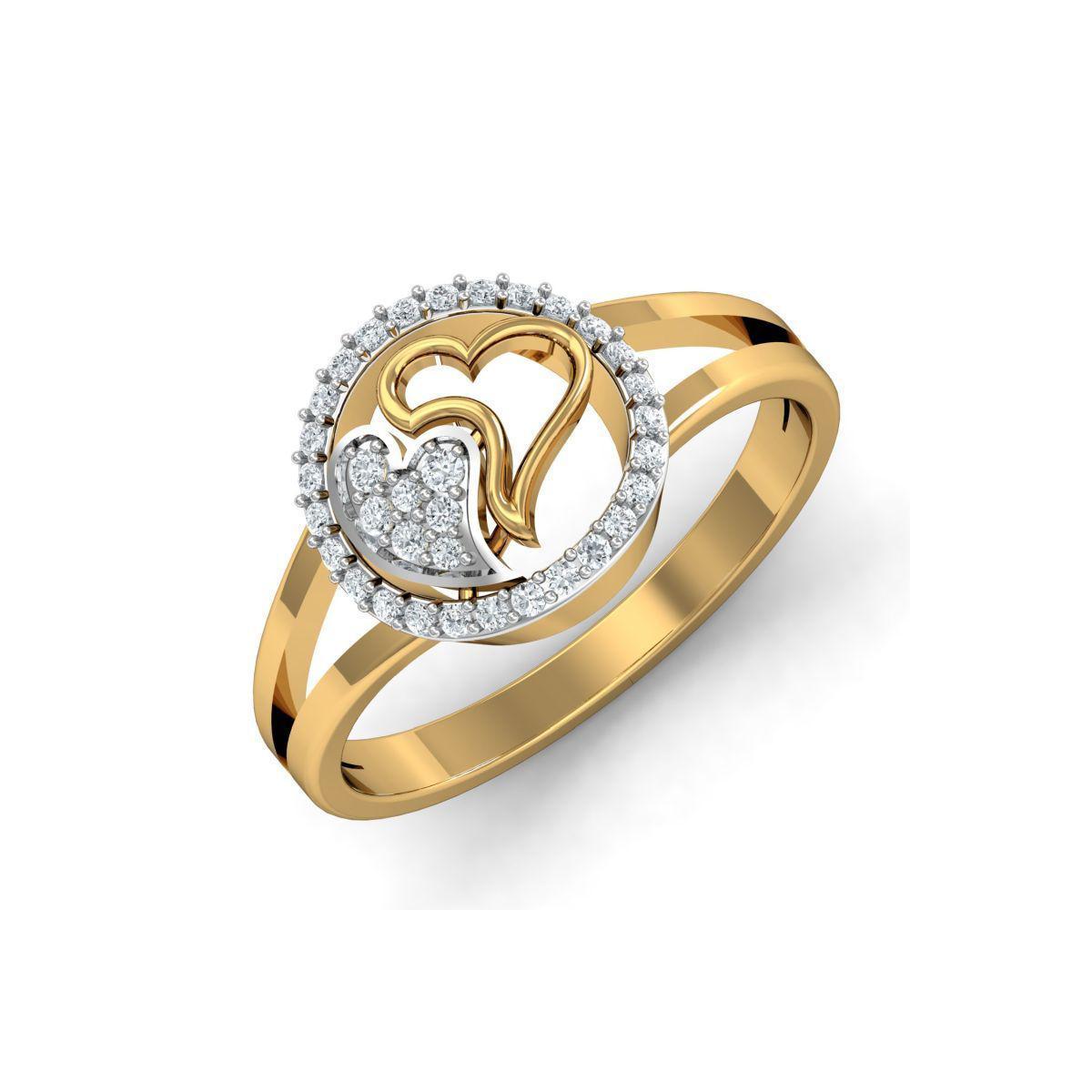 Diamoire Jewels 18kt Yellow Gold Pave 0.18ct Diamond Infinity Ring II - UK G 1/4 - US 3 1/2 - EU 45 3/4 x5oqmHJ