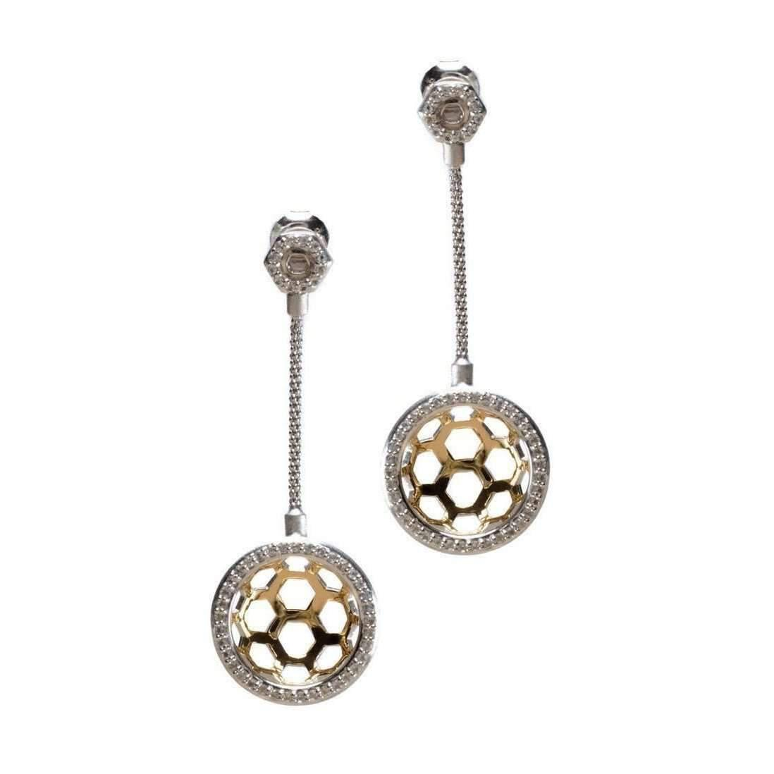 Gia Belloni Gold And Silver Aeon Earrings xKXtW
