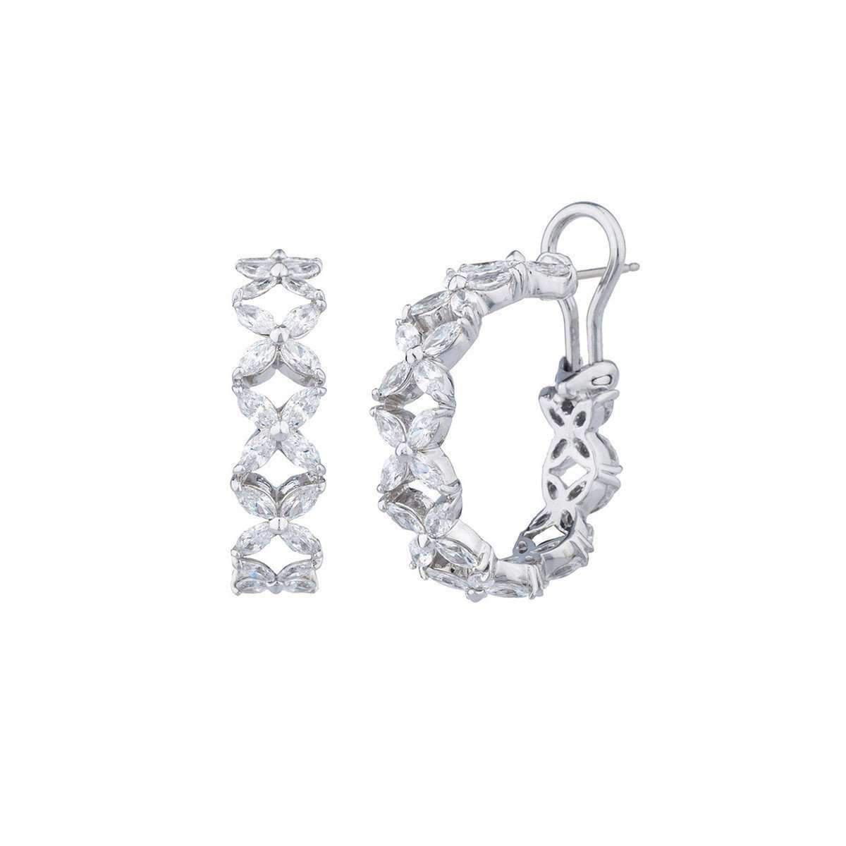 Fantasia Sterling Silver Multi Shape Stud Earrings VP3Cb