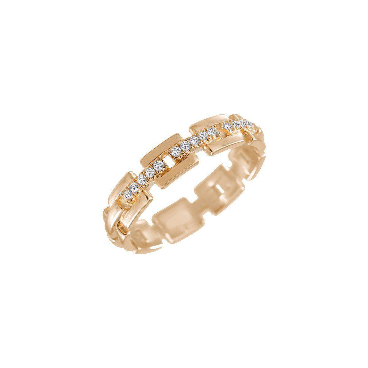 Jezebel London 14kt Rose Gold & Diamond Margaret Ring - UK M - US 6 - EU 52 3/4 LdYreLzc