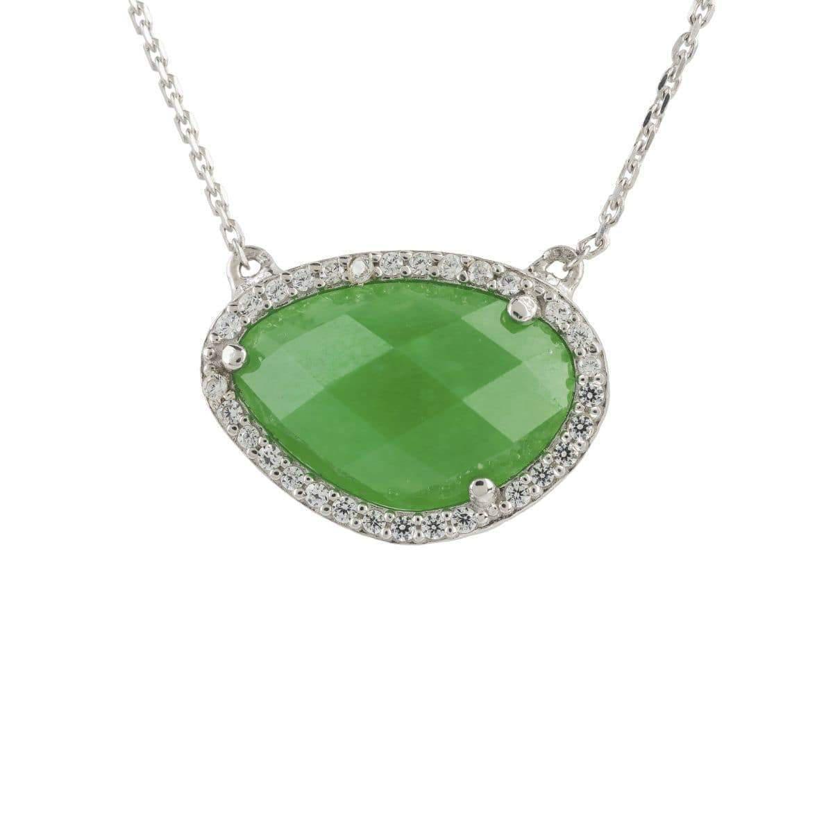 Latelita London Sofia Green Onyx Gemstone Necklace Gold tG3FJ6Gx