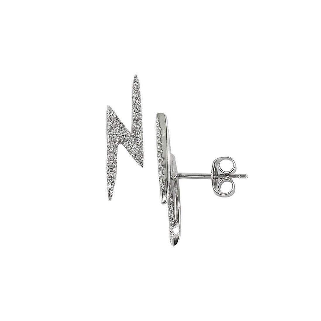 London Road Jewellery White Gold Diamond Geo Kiss Stud Earrings zhDDLGX
