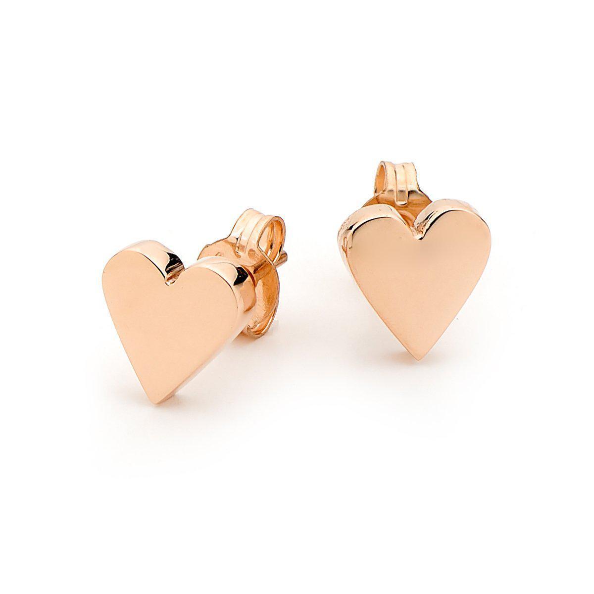 Argenton Design Rose Gold Heart Studs jLzso9