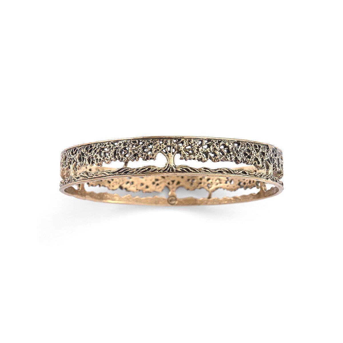 House of Alaia Tree of Life Filigree Bangle Bracelet In Bronze InB2bAS5l