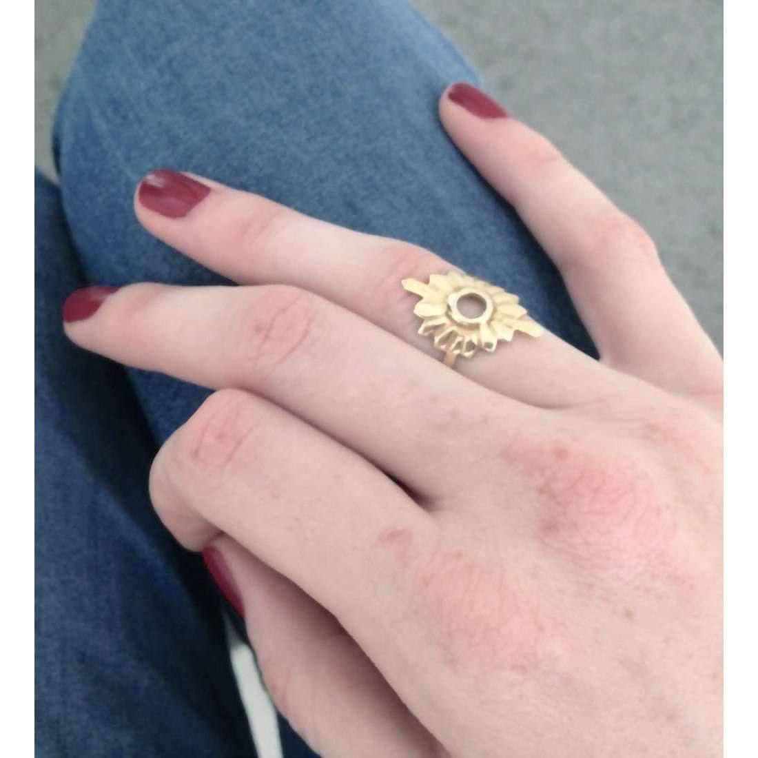 Lyst - Taylor Black Gold Large Sunburst Ring in Metallic