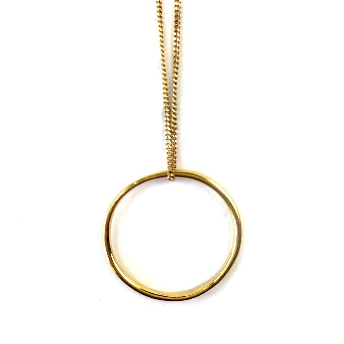 Fran Regan Jewellery Pendant Vermeil Single Loop On Silver Chain etE05ElJ6x