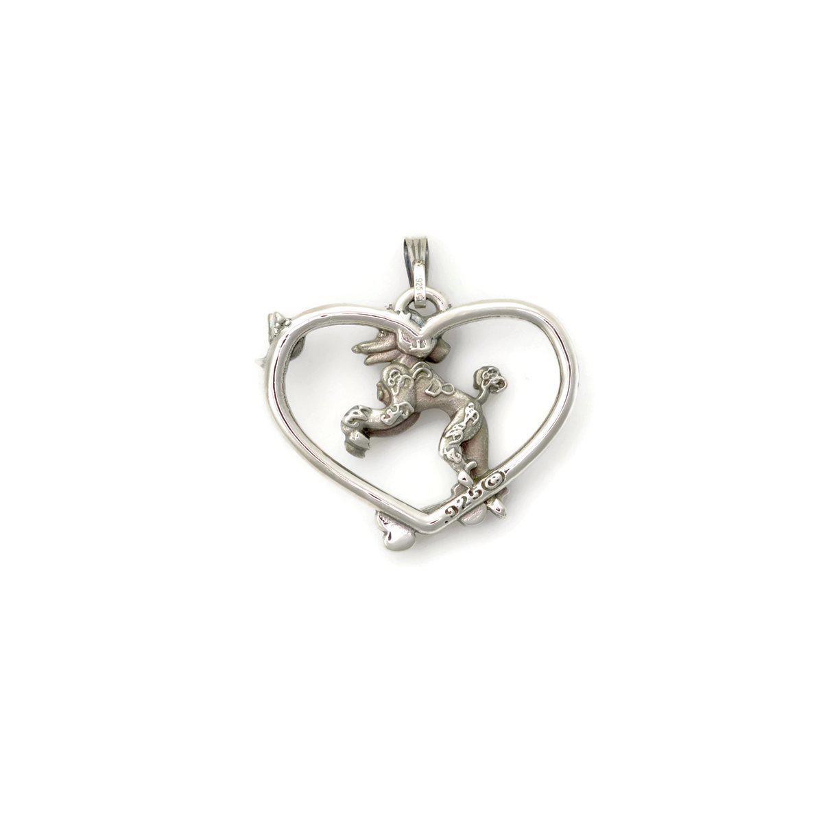 Donna Pizarro Designs Sterling Silver Poodle Necklace Alternative r7hft03
