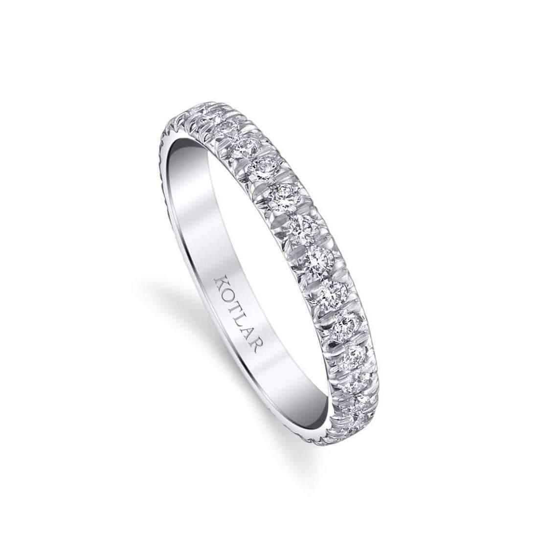 Harry Kotlar French Cut Artisan Pave Band - UK M - US 6 - EU 52 3/4 6fmwE
