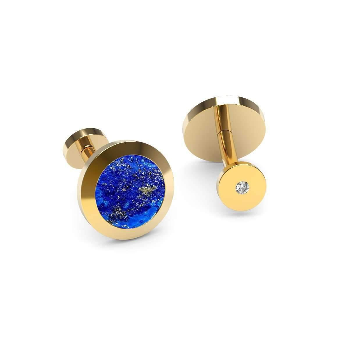 Syna 18kt 925 Yellow Diamonds and Black Onyx Cufflinks nD2N7yB3