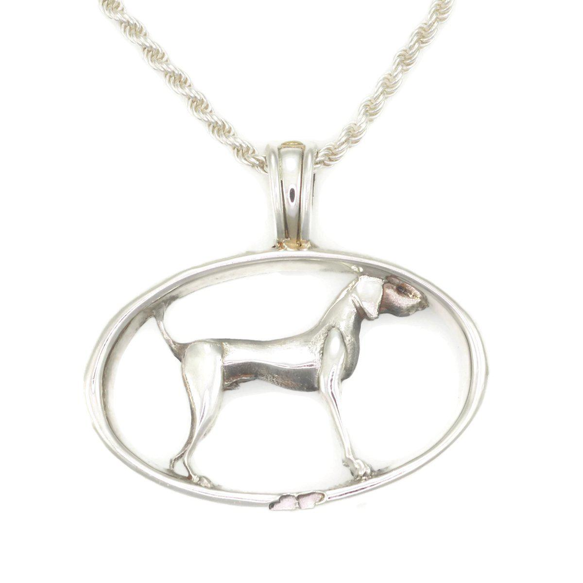 Donna Pizarro Designs Sterling Silver Vizsla Necklace With 14kt Accent ZCqwKI6xx