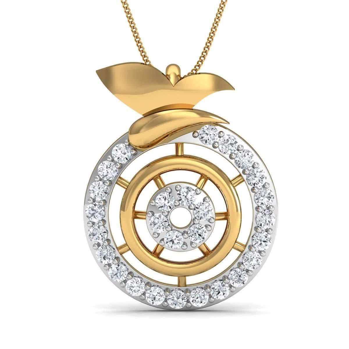 Diamoire Jewels Inspired by Nature 18kt Rose Gold Pave Designer Diamond Pendant 34IQkSTs2y