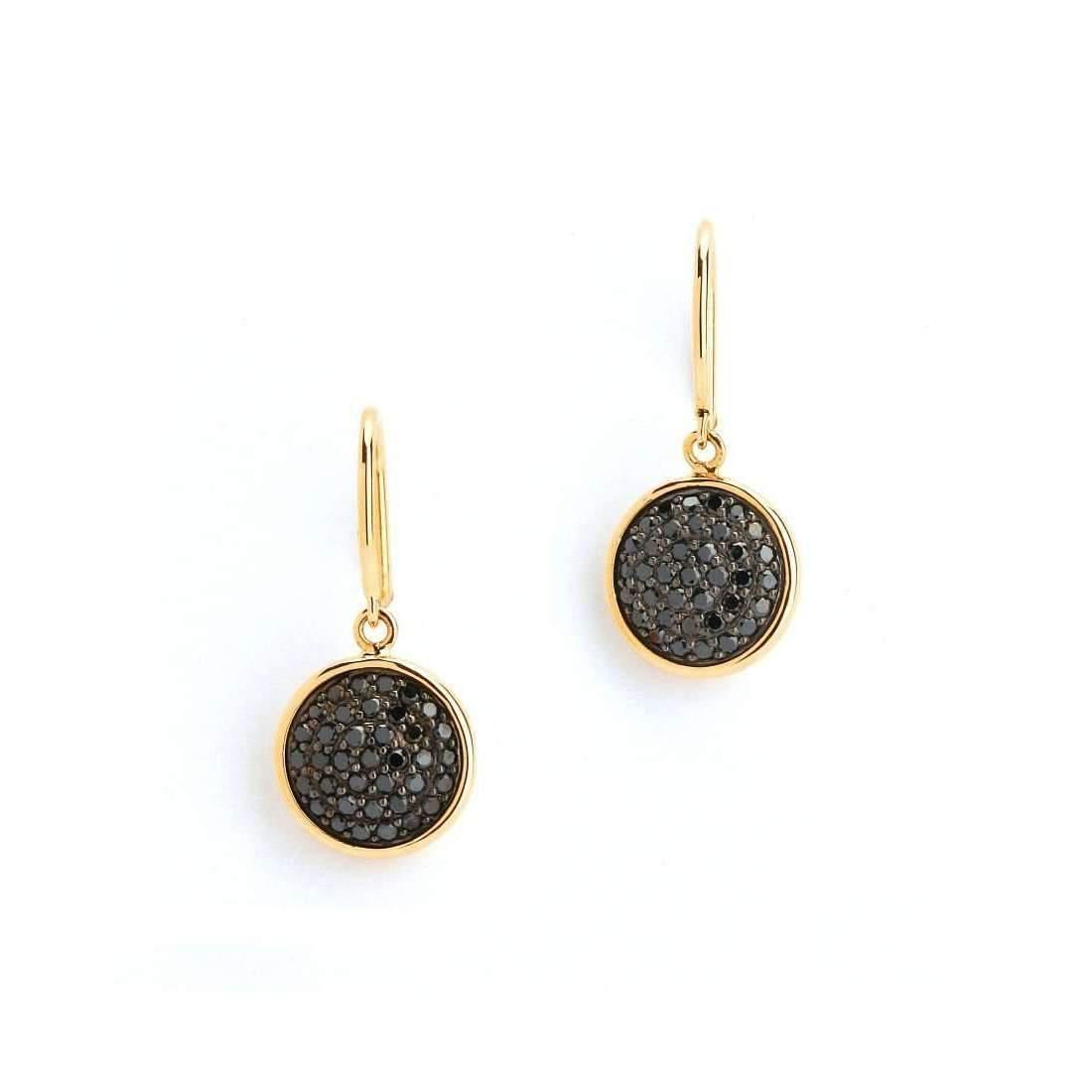 Syna 18kt Quad Blue Sapphire & Champagne Diamond Earrings QGGd42