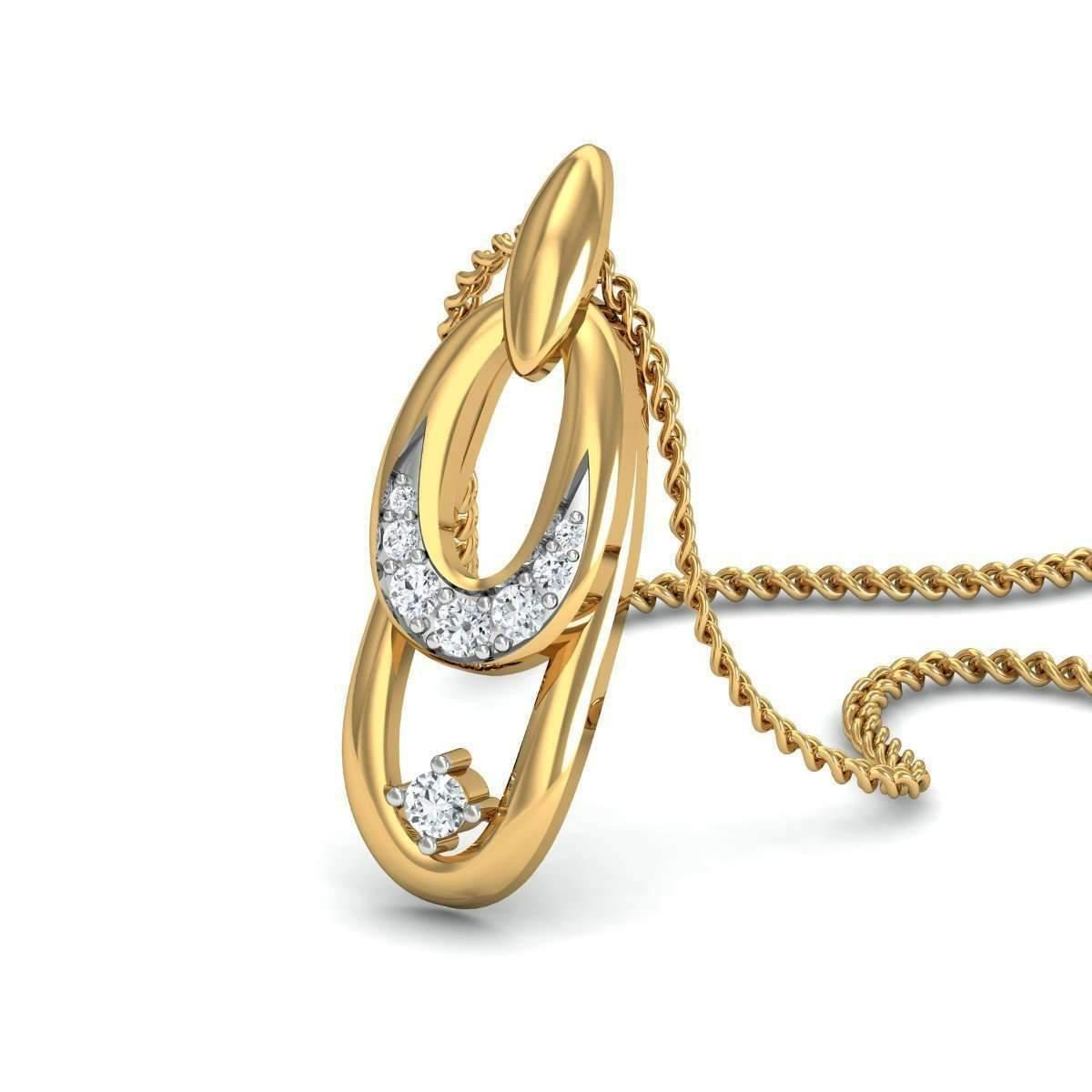 Diamoire Jewels Day-and-Night Diamond Pave Pendant in 18kt Yellow Gold RcTcRW