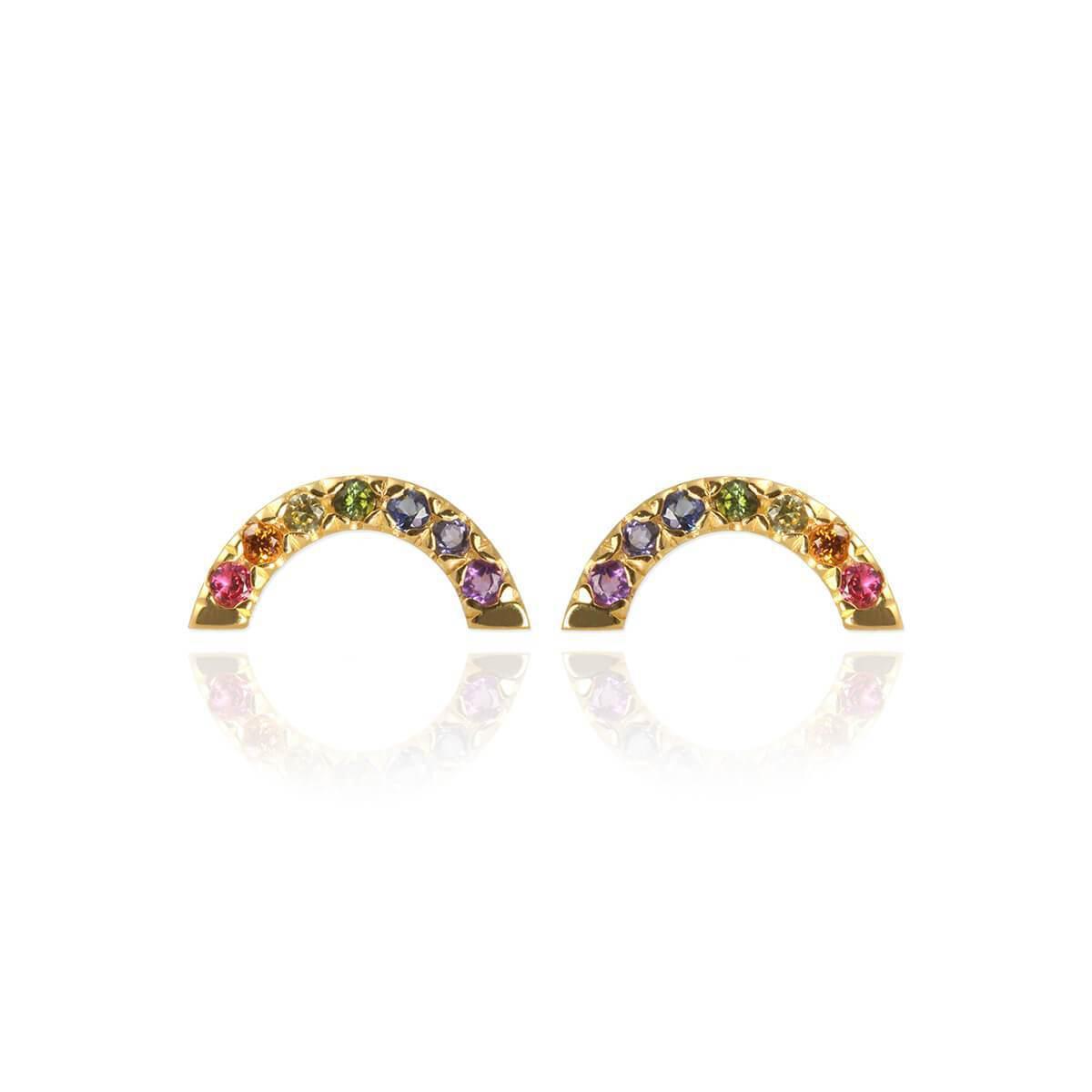 Jana Reinhardt Yellow Gold Plated Rainbow Ear Jackets Zovi1Sojm