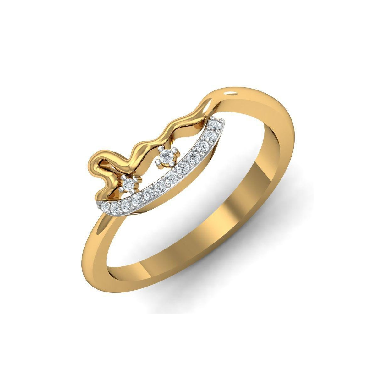 Diamoire Jewels 18kt Yellow Gold Pave 0.08ct Diamond Infinity Ring - UK G 1/4 - US 3 1/2 - EU 45 3/4 nn6mQW