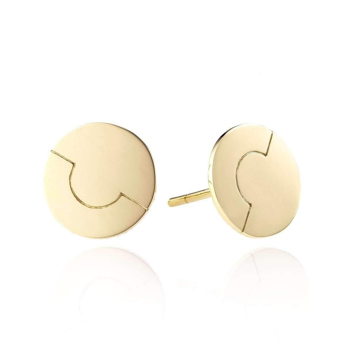 Lani Vincoli 9mm Signature White Gold Earrings TxSD3C