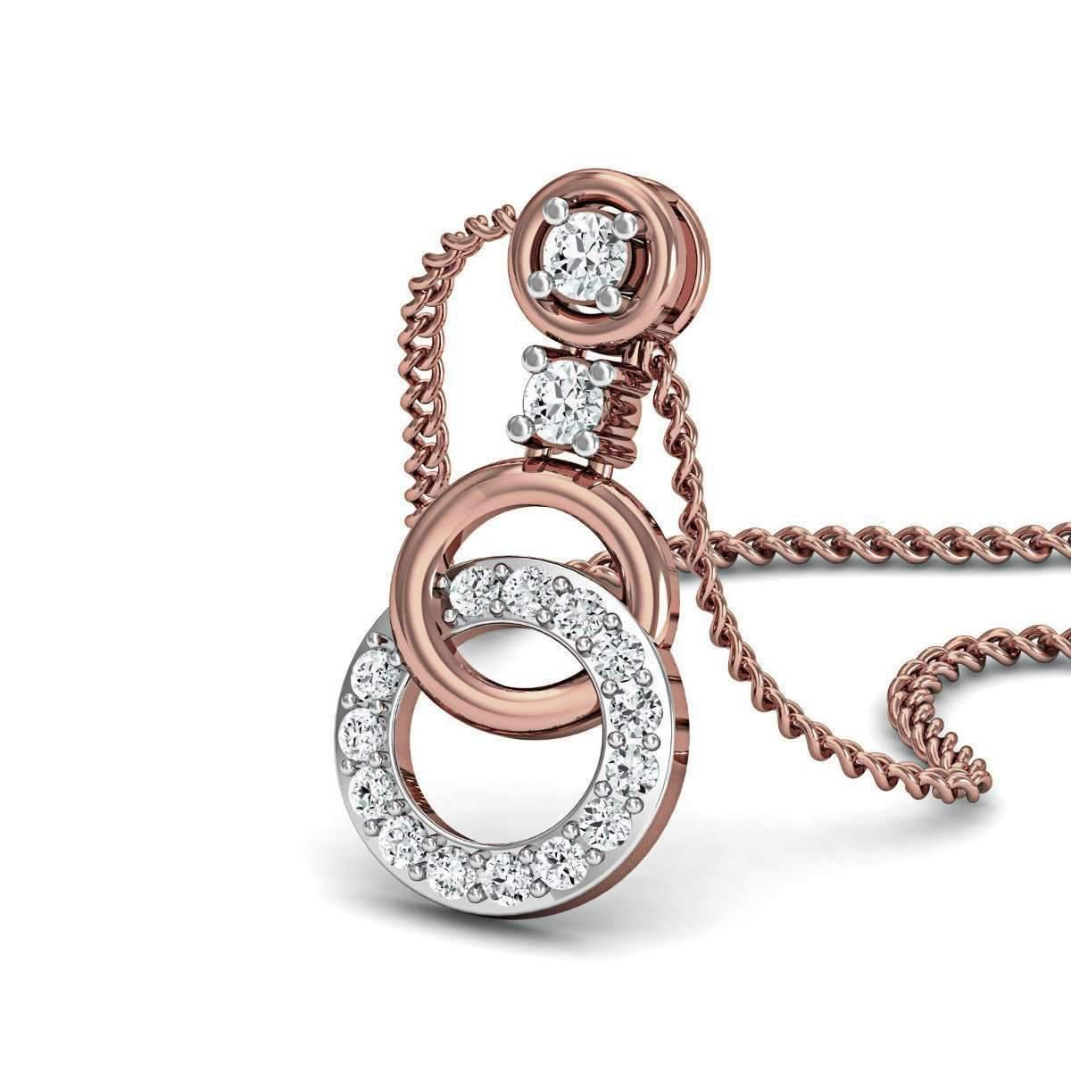 Diamoire Jewels Luxurious Bangled Pendant in 18kt Rose Gold Gn1UrE