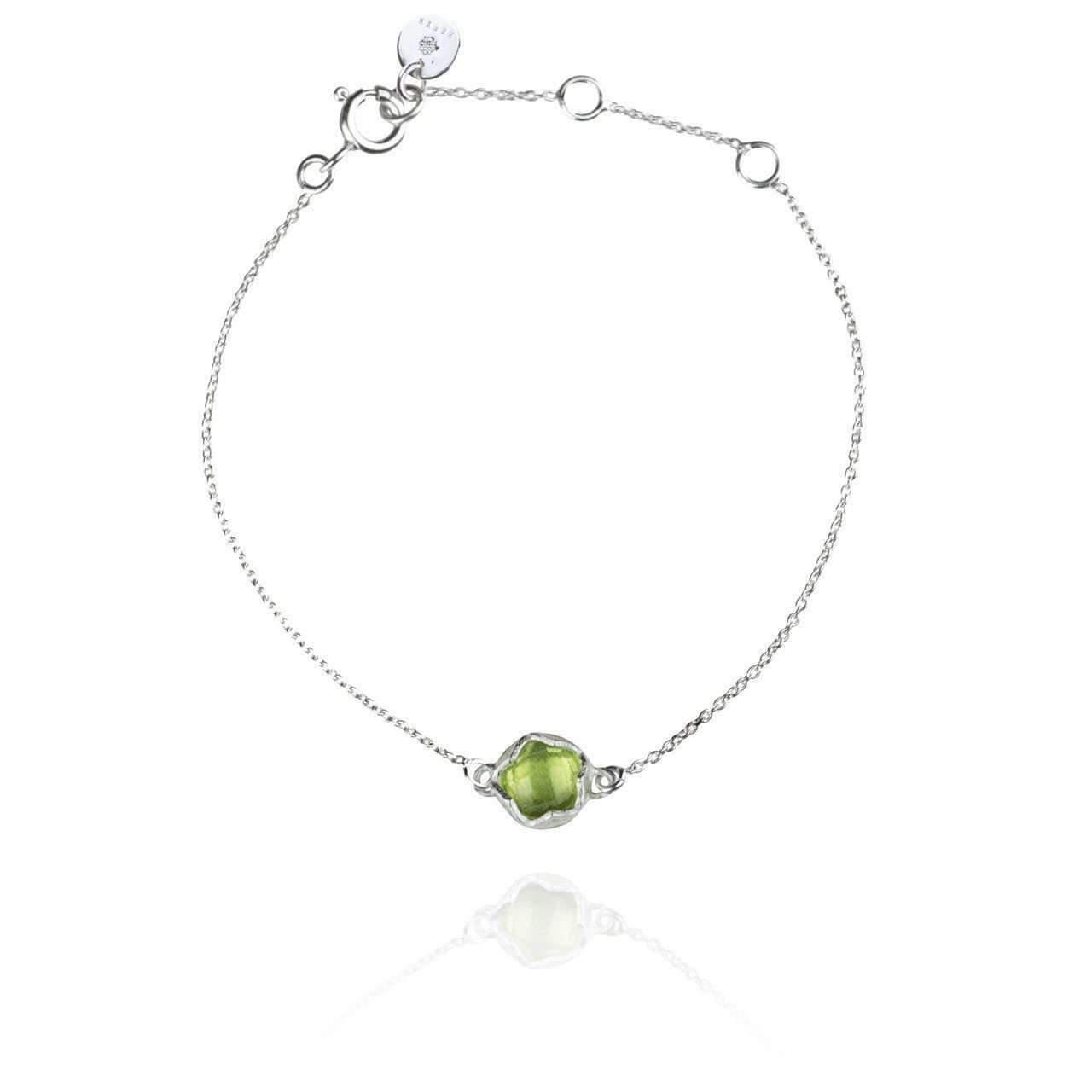 Zefyr Dosha Necklace Sterling Silver With Peridot