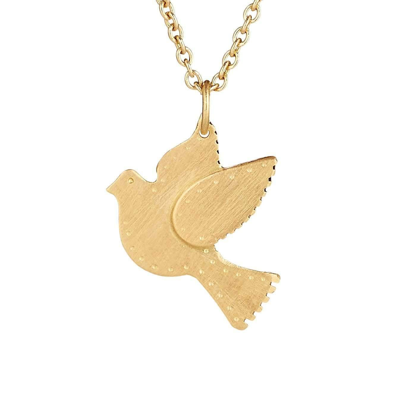 products dainty jewelry necklace gold tinksjewelry dove pendant peace symbol