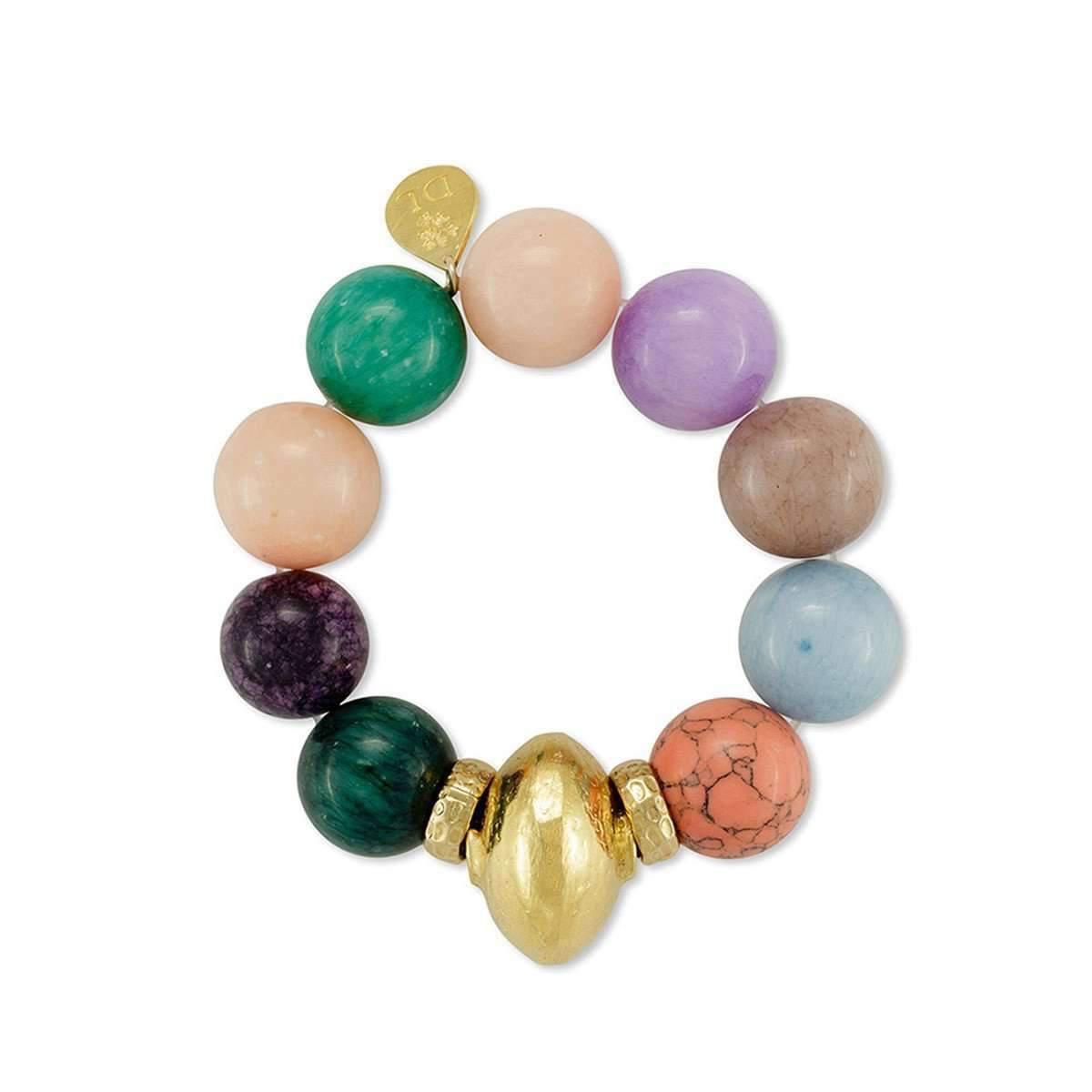 Devon Leigh Turquoise Stretch Bracelet 7HuxYcZATf